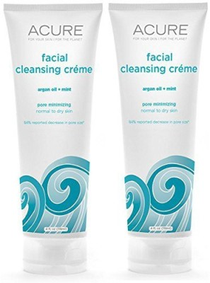 Acure organic mint and argan oil facial cleansing creme with acai
