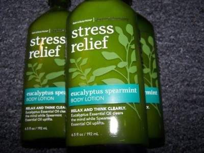 Bath & Body Works Lot of 3 Aromatherapy Stress Relief Eucalyptus Spearmint Body Lotion Each (Eucalyptus Spearmint)