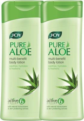 Joy Pure Aloe Multi-benefit Body Lotion 600 ml (Pack of 2 x 300 ml)