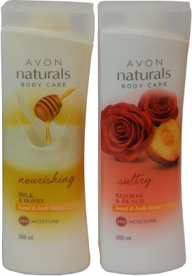 Avon Naturals Body Care Nourishing & Suttury Hand & Body Lotion (Set of 2 )