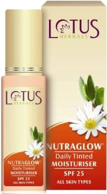 Lotus Nutraglow Daily Tinted Moisturiser SPF 25 - Fresh Ivory T2