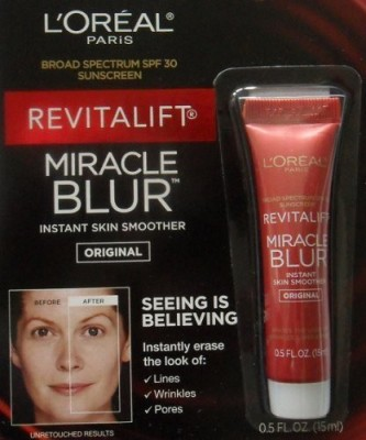 L ,Oreal Paris Revitalift Miracle Blur Instant Skin Smoother Finishing Cream with Broad Spectrum SPF 30 Sunscreen . (1 mL)