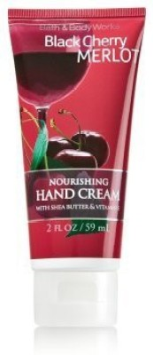 Bath & Body Works Black Cherry Merlot Nourishing Hand Lotion Cream with Shea Butter and Vitamin E Travel Size