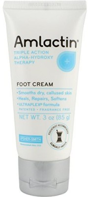 AmLactin Alpha-Hydroxy Therapy Foot Cream to Heal, Repair, Soften Dry, Callused Skin on Feet, Heels Podiatrist Approved