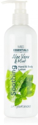 Essentials M&S Alove vera & mint soothing Hand & Body Lotion