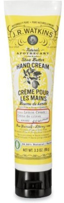 J.R. Watkins Shea Butter Hand Cream, Lemon Cream, - Tubes (Pack of 4)