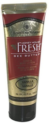 Honey House Naturals Bee Bar Cream - Vanilla Scented Hand & Body Lotion - Large
