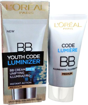 L,Oreal Paris Youth Code Luminizer Bb Cream Medium Spf 15