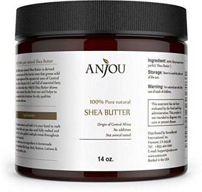 Anjou African Shea Butter, 14oz, DIY for Body Butter, Soap, Hair Cream, Lip Gloss, Moisturizer, Salve, Candle-making, Hairdressing