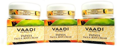 Vaadi Herbals Papaya Face & Body Cream - Pack of 3