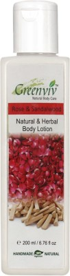 Greenviv Natural Rose & Sandalwood Body Lotion