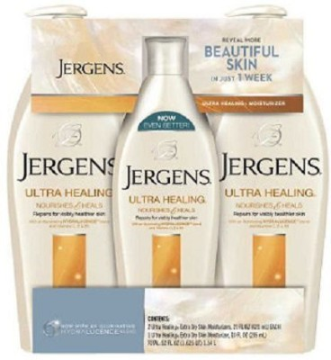 Jergens Ultra Healing Lotion Triple Pack 2 / bottles and 1 / 10 bottle
