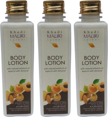 Khadi Natural Herbal Body Lotion - Pack of 3 - Premium Ayurvedic