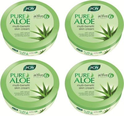 Joy Pure Aloe Multi-benefit Skin Cream 800 ml(Pack of 4 X200 ml)