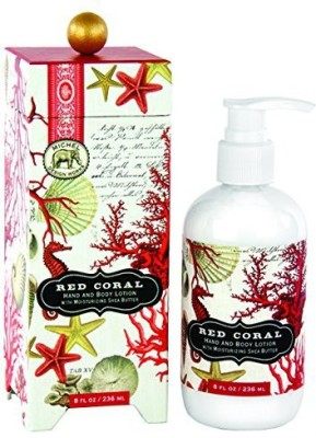 Michel Design Works Hand and Body Lotion, Red Coral