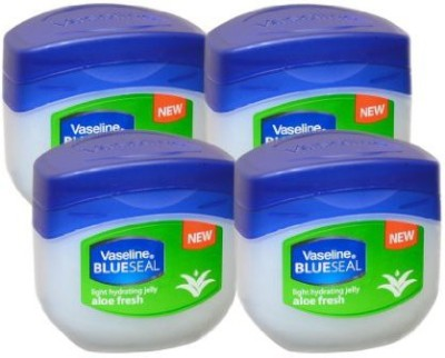 Vaseline BlueSeal Petroleum Light Hydrating Jelly (100ml) with Aloe Fresh (Pack of 4)