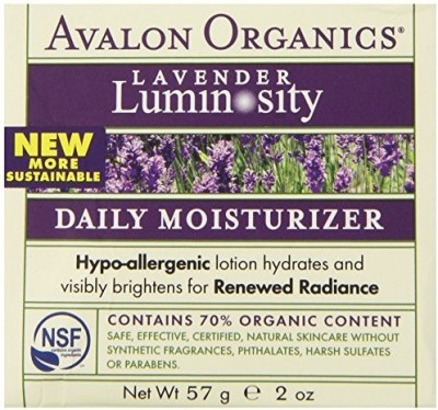 Avalon Organics Daily Moisturizer, Lavender, - Jar (Pack of 2)