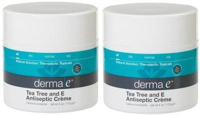 Derma E Tea Tree and E Antiseptic Creme Treatment, (Set of 2)