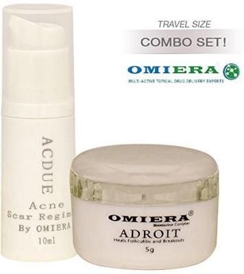 Omiera ACNE SCARS TREATMENT Acdue ( ) + Facial Hair Growth Inhibitor Cream Adroit (0.2 ) Skin Care SetLabs