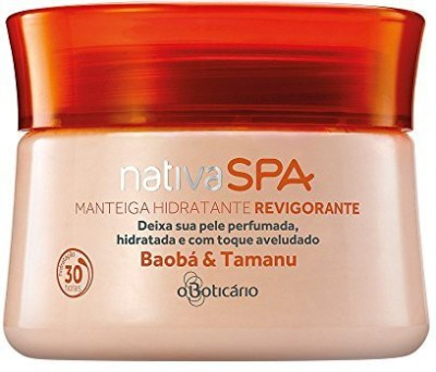 Boticario Nativa Spa Boticario - Manteiga Hidratante Revigorante Baoba e Tamanu 250 Gr - (Boticario Nativa Spa Collection - Baoba & Tamanu Body Moisturizing Butter Net 8.81 Oz)
