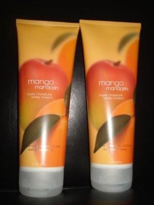 Bath & Body Works Bath and Body Works MANGO MANDARIN Triple Moisture Body Cream 2-Pack * each Bottle!