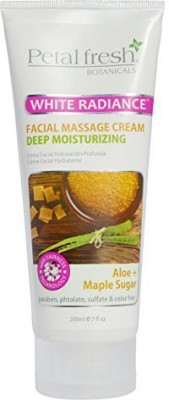 Bio Creative Lab Petal Fresh Botanicals Whitening and Deep Moisturizing Facial Massage Cream, Aloe and Maple Sugar