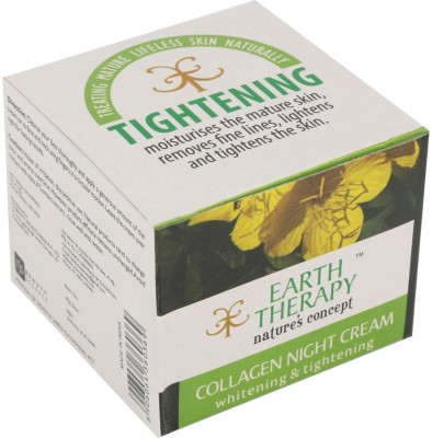 EARTH THERAPY Whitening And Tightening Collagen Night Cream 50g
