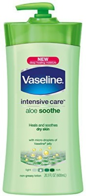 Vaseline Body Lotion, Aloe Soothe (Pack of 3)