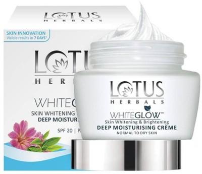 Lotus Herbals Skin Whitening & Brightening Deep Moisturising Crme SPF-20 PA+++(60 g)