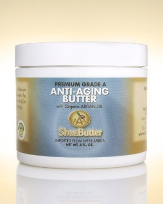 AAA Shea Butter Company By AAA Shea Butter natural anti-aging butter unrefined certified grade a shea butter and organic unrefined argan oil blend