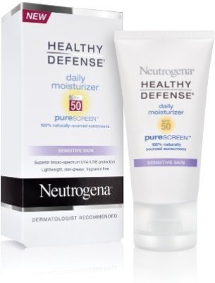 Neutrogena Healthy Defense Daily Moisturizer with PureScreen, SPF 50, (Pack of 2)