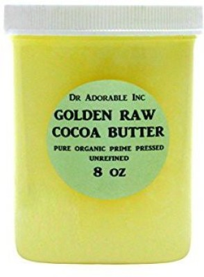 Dr Adorable COCOA BUTTER ORGANIC RAW Grade A PRIME PRESSED UNREFINED 8 OZ
