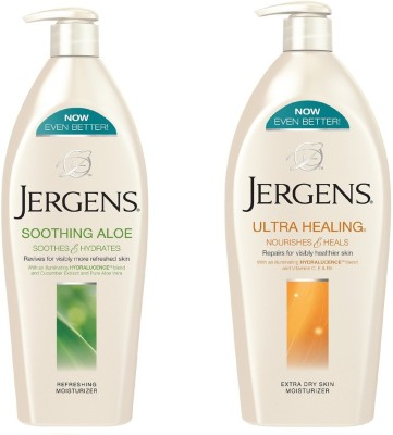 Jergens Soothing Aloe and Ultra Healing Moisturizers Body Lotion