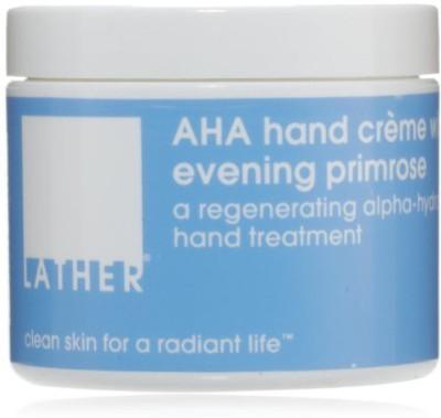 LATHER AHA Hand Crème with Evening Primrose, - Jar