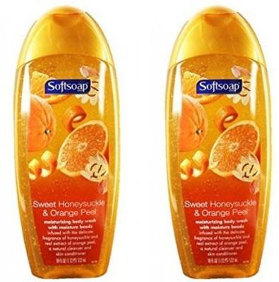 Softsoap Body Wash Sweet Honeysuckle and Orange Peel, - 2 Pack
