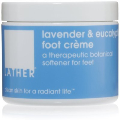 LATHER Lavender & Eucalyptus Foot Crème, - Jar