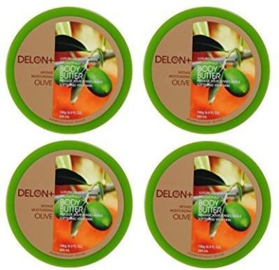 Delon+ DELON Intense Moisturizing Olive Body Butter (4-Pack)