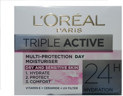 L,Oreal Paris triple active multi protection moisturiser