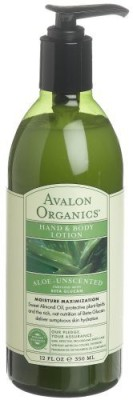 Avalon Organics Hand & Body Lotion, Aloe, Unscented, -s (Pack of 2)