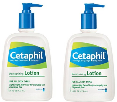 Cetaphil Fragrance Free Moisturizing Lotion (Pack 2)