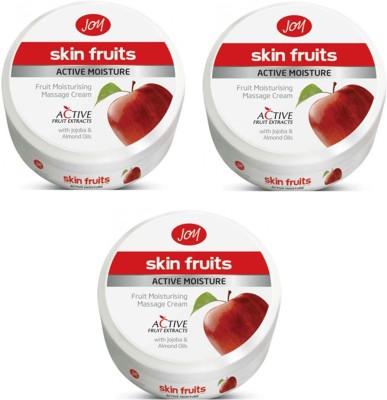 Joy Skin Fruits Active Moisture Massage Cream 100 Ml(Pack Of 3)