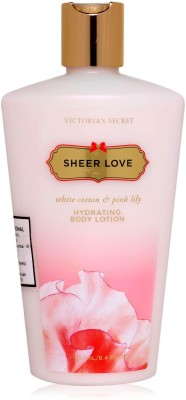 Victoria's Secret Sheer Love White Cotton & Pink lily hydrating Body Lotion