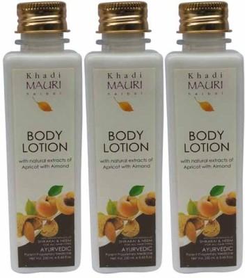 Khadimauri Herbal Body Lotion - Pack of 3 - Premium Natural