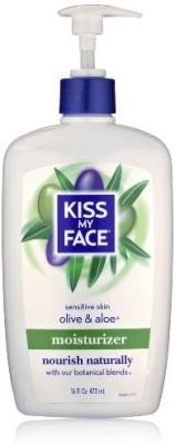Kiss My Face Olive & Aloe Moisturizer for Sensitive Skin, - Bottles (Pack of 3)