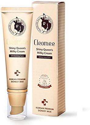 Cleomee Shiny Queen Milky Cream , 66% Donkey Milk, Skin Care,make-up Effect,whitening,moisturizing(50 ml)