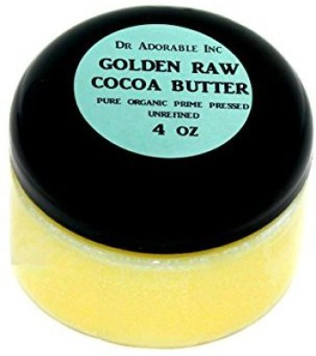 Dr Adorable COCOA BUTTER ORGANIC RAW Grade A PRIME PRESSED UNREFINED 4 OZ
