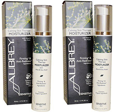 Aubrey Organics Calming Skin Therapy Moisturizer With Aloe And Sea Aster For Sensitive Skin (pack Of 2)(47.6 g)