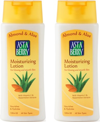 Astaberry Almond & Aloe Moisturizing Lotion Pack of 2