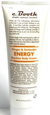 c. Booth c.booth ginger & coriander energy daytime body cream 8 fl oz