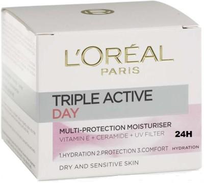 L,Oreal Paris Triple Active Multi protection Day moisturiser 24h hydration cream